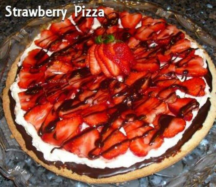 Strawberry Dessert Pizza. Strawberries are my absolute favorite!