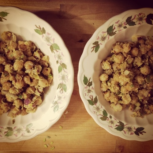 Curry Pan-Fried Chickpea Salad | Recipes to Remember | Pinterest