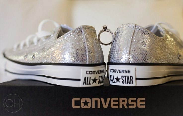 glittery converse wedding shoes