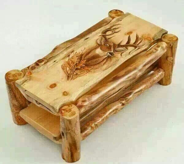 Log coffee table ammo and hunting decor pinterest for Log coffee table