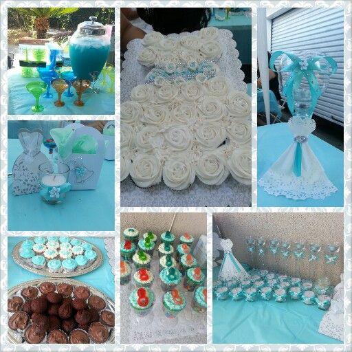 blue bridal shower ideas