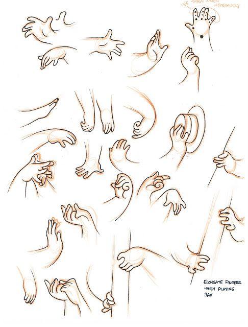 Dibjar manos estilizadas 07