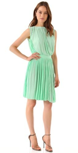 mint sleeveless dress / tibi