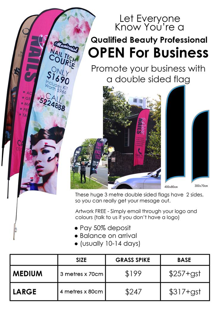 business open flags