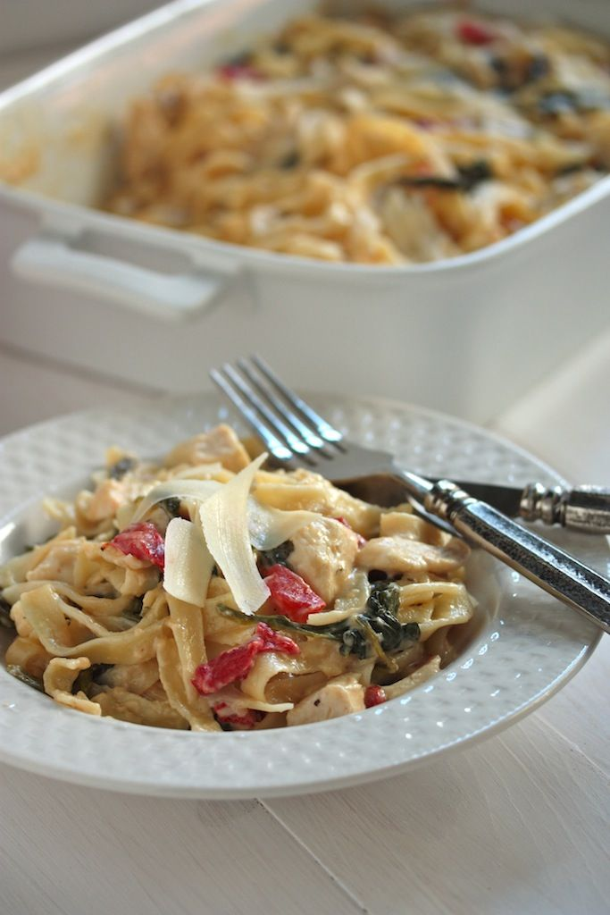 Chicken Florentine Pasta Bake from Country Cleaver