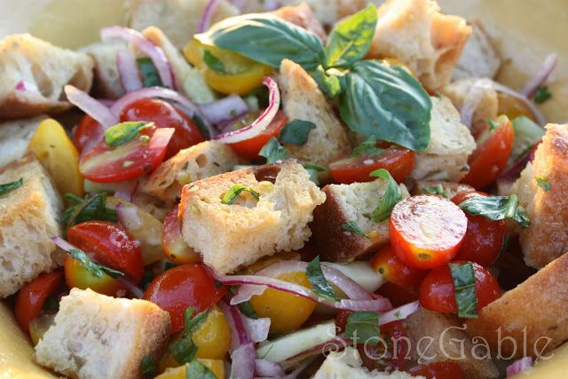StoneGable: Panzanella Salad | side dishes | Pinterest