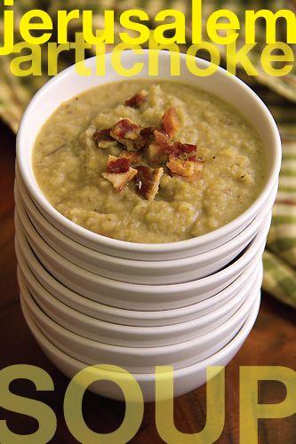 Jerusalem Artichoke Soup with Garlic and Bacon