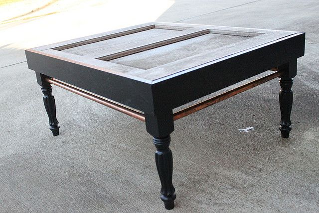 Exterior door turned a coffee table repurposing at it 39 s finest for Old door into coffee table
