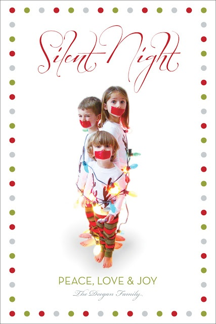Silent Night card o funny christmas