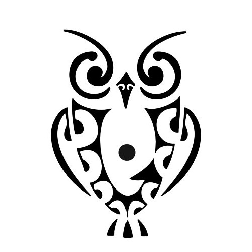 Maori owl tattoo. would be cool for a tattoo