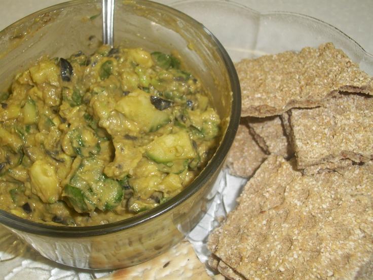 Chunky Avocado Spread - partially mash a ripe avocado (or use hummus ...