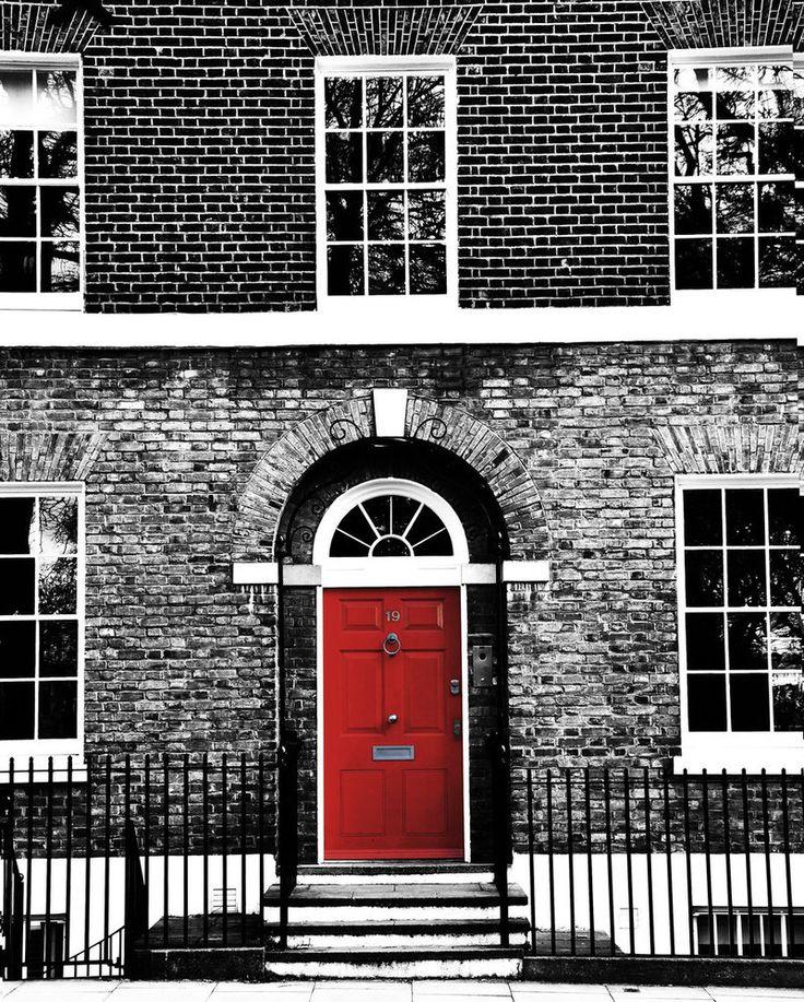 contrast red door