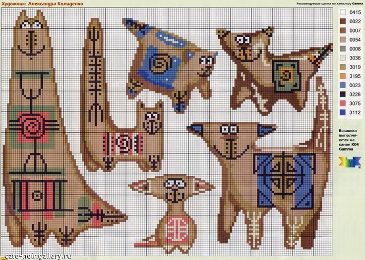 Схемы вышивки крестом в леонардо 700