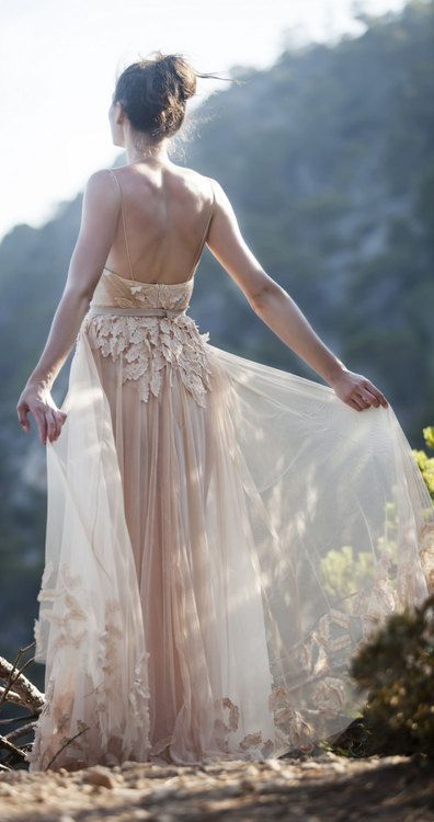 Blush wedding dress      jaglady