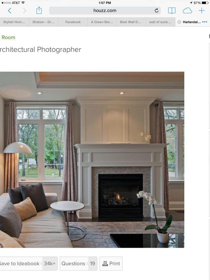 fireplace reface home ideas pinterest