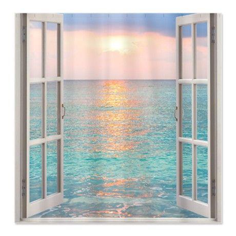 Beach House Shower Curtain | Bathroom remodel | Pinterest