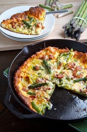 Asparagus and double smoked bacon popover from Closet Cooking