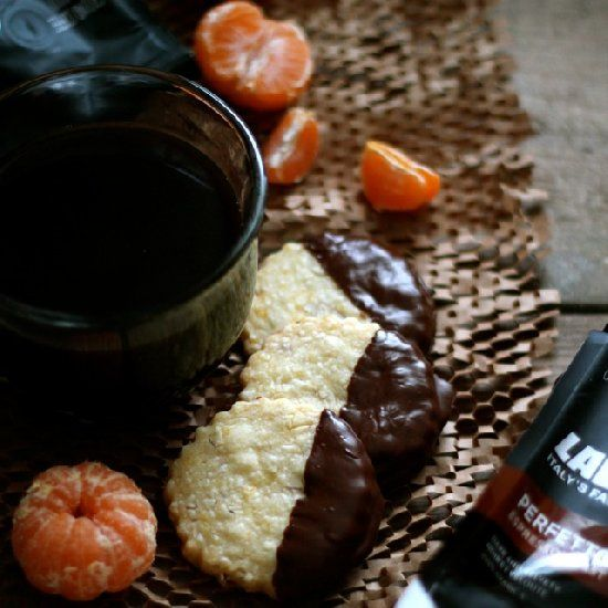 Chocolate-Dipped Almond & Orange Shortbread. Perfect with a cup of ...