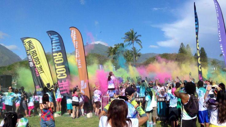The Color Run Maui 2014 via  A Maui Blog