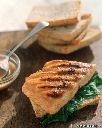 Grilled Salmon Sandwich Recipe | Recipes | Pinterest