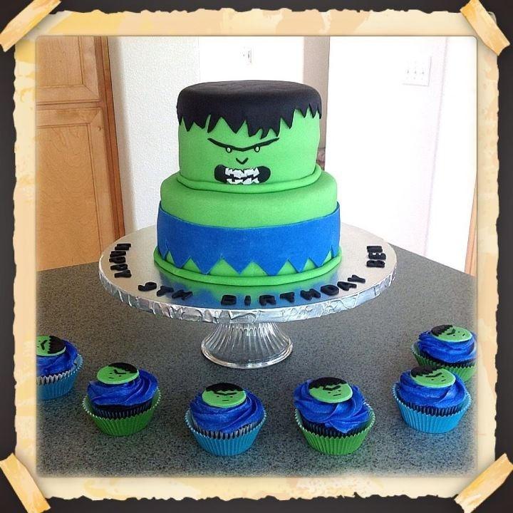 Incredible Hulk Cake Lollipop Cake Design Pinterest