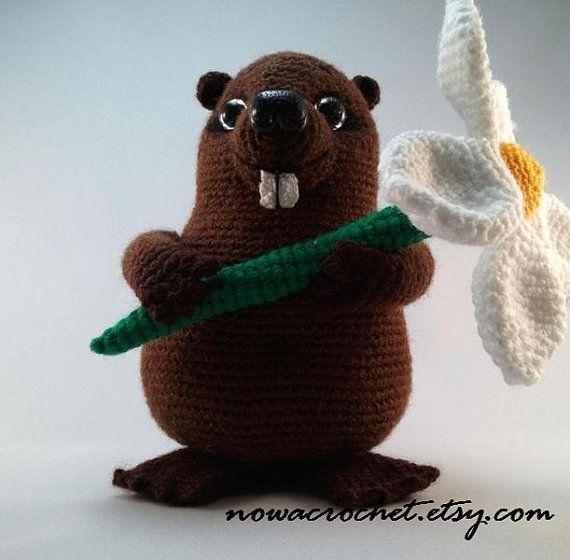 Beaver Mr. Bobritsky - amigurumi PDF crochet pattern ebook