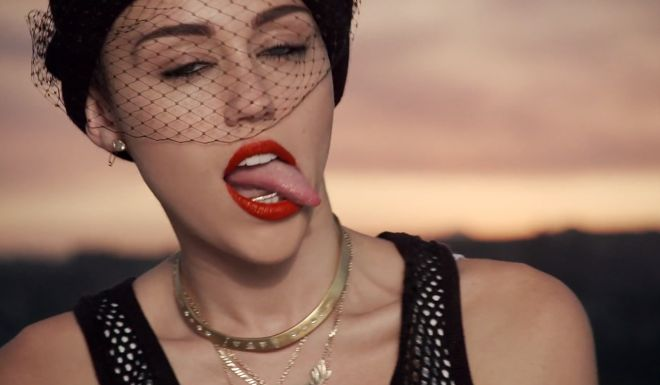 Open mouth cyrus miley
