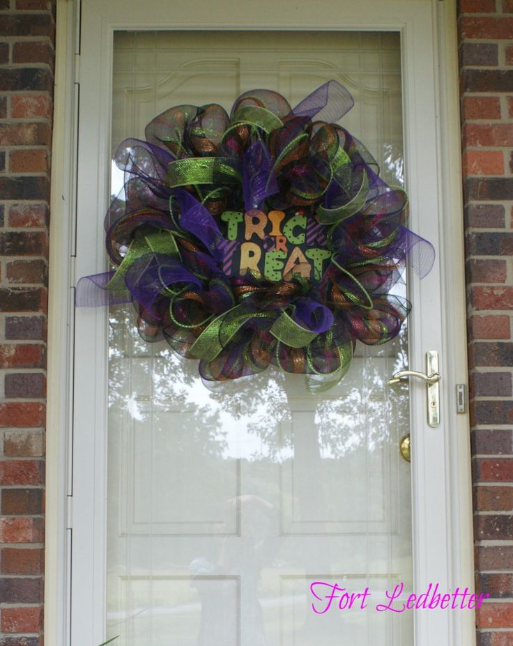 mesh ribbon wreath diy crafty crafty pinterest