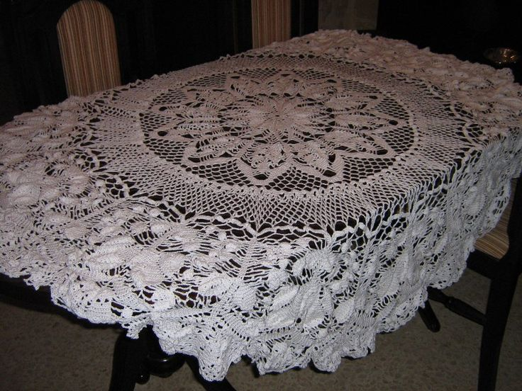 Crochet table cloth Crochet My Doings Pinterest