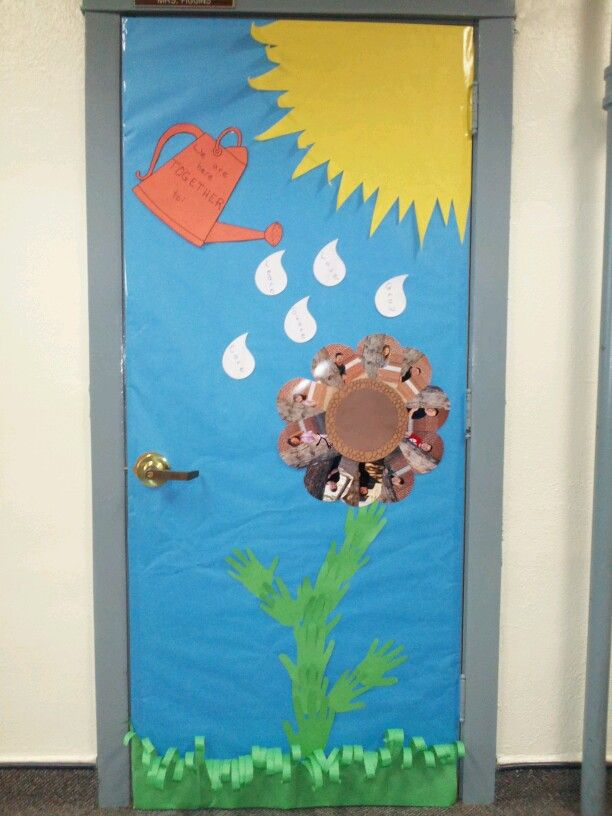 Spring classroom door decoration classroom decor pinterest for Art classroom decoration ideas
