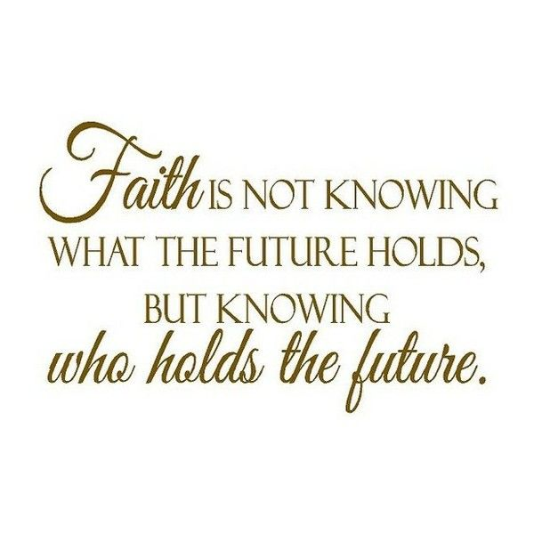 Christian Inspirational Wall Decal Quote Vinyl Lettering Faith is Not… ❤ lik