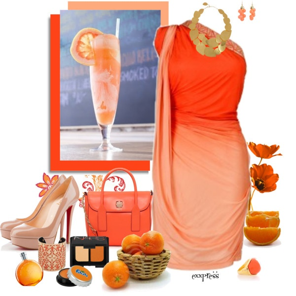 "Orange Creamsicle Float"" by exxpress on Polyvore"