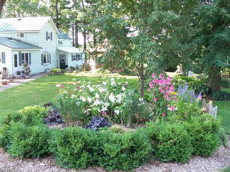 Image of perennial flower bed garden design pinterest for Perennial flower bed design