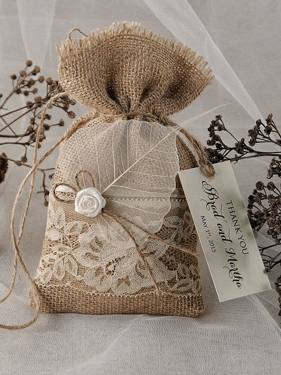 Small Wedding Gift Bag Ideas : Rustic Favor Bag, Rustic Wedding, Wedding Favor Bag , Burlap Favor Bag ...