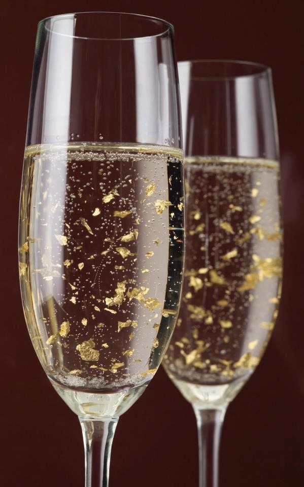 champagne with 24 karat gold flakes wine pinterest