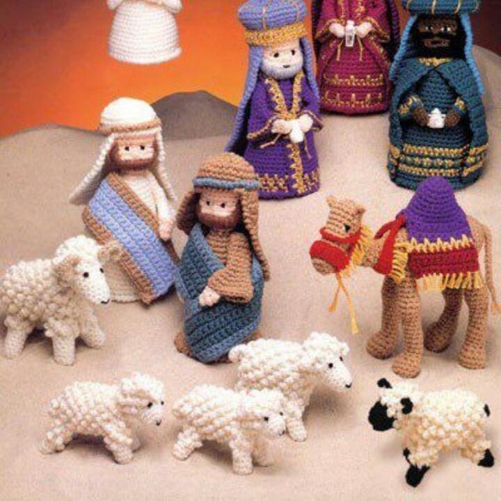 Amigurumi nativity scene Nativity Sets Pinterest