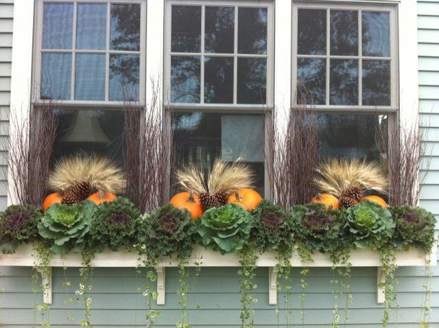 Beautiful fall window box window boxes pinterest - Window decorations for fall ...