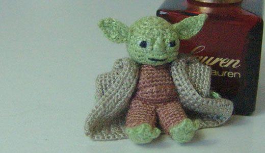 1 inch amigurumi Yoda - Star Wars miniature crochet doll ...
