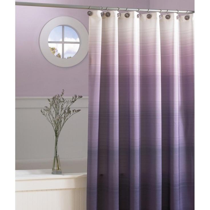 ombre purple shower curtain upstairs bathroom pinterest