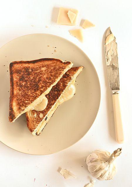 Roasted Garlic & Gruyere Cheese Toasties by raspberri cupcakes, via ...