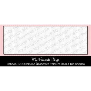 Die-namics Ribbon RE:Creations Grosgrain Texture Board