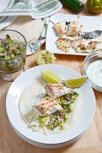 Cilantro and Lime Fish Tacos   Recipe