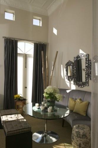 Love the monochromatic scheme > Parisian salon eclectic dining room