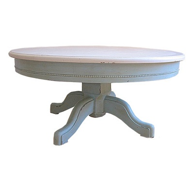 Painted Round Pedestal Coffee Table For The Home Pinterest