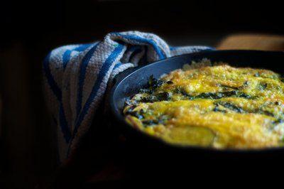 Potato & Swiss Chard Frittata | Potato Breakfast | Pinterest