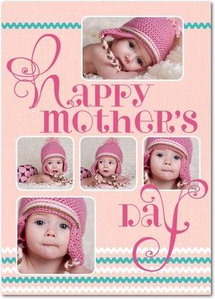 Twee Swirls - Mother's Day Greeting Cards - Hallmark - Watermelon - Pink : Front