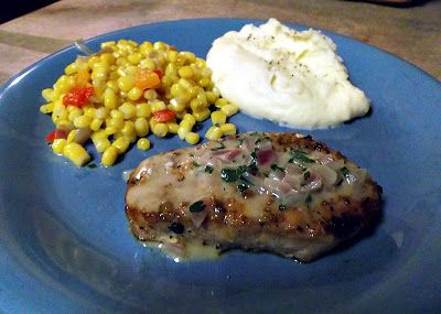 Blogghetti: Grilled Pork Chops with Dijon Herb Sauce