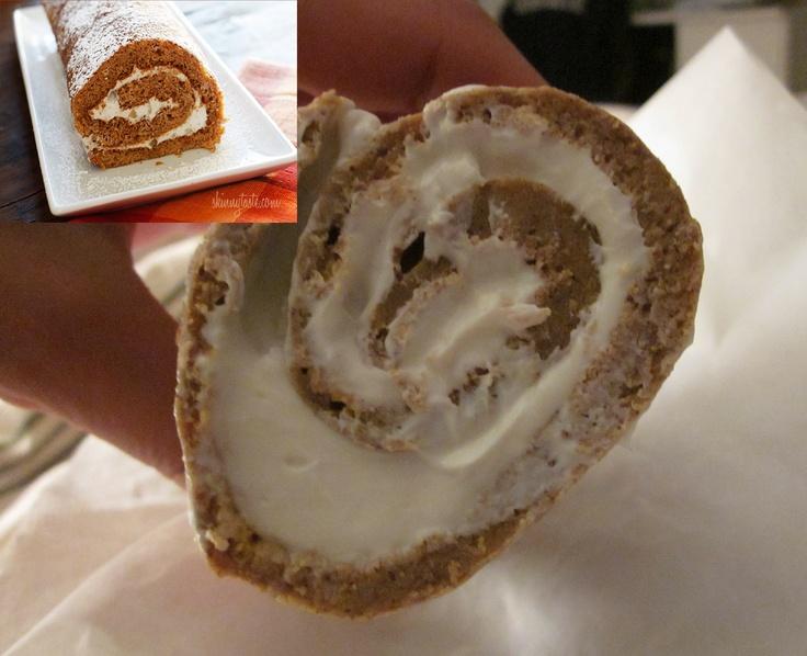 Pumpkin Roll, Lightened Up Recipe — Dishmaps