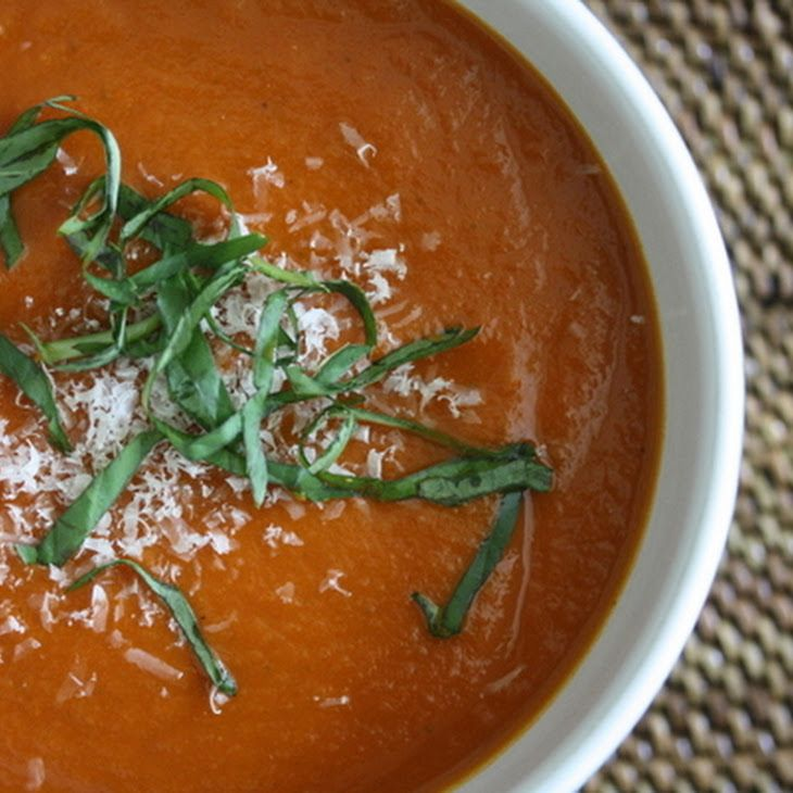 Slow Cooker Tomato Basil Soup Recipe | Baby It's Cold Outside