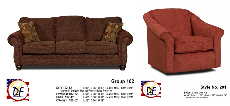 Rivers Edge 102 Sofa 201 Chair General Sofa Sets